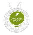 label tomato fresh natural eco food hand drawn vector image