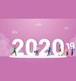 2020 new year change from 2019 with business man