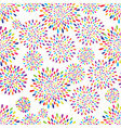 abstract splash drop pattern firework flowers or vector image