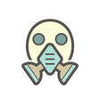 air purifying respirator or gas mask icon vector image vector image