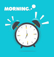 alarm clock with morning vector image vector image