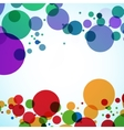 background design of large colored balls vector image