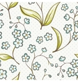 Beautiful seamless pattern with Forget-me not vector image vector image