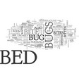 bed bugs bite text word cloud concept vector image vector image