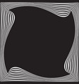 black and white optical art background vector image vector image