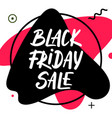 black friday sale with lettering and fluid vector image
