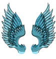 blue wings isolated on white background design vector image