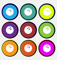 Bowling game ball icon sign Nine multi colored vector image vector image