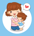 boy love his mom vector image vector image