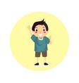 boy new character vector image vector image