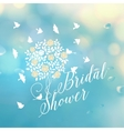 Bridal shower template vector image
