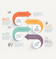 business infographics timeline template vector image vector image