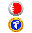 button as a symbol BAHRAIN vector image vector image