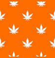 cannabis leaf pattern seamless vector image vector image