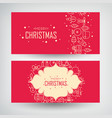 christmas design concept banners set vector image