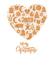 christmas gingerbread cookies card merry christmas vector image