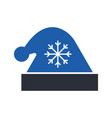 christmas hat glyph icon vector image