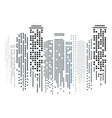 cityscape silhouette in flat design on white vector image vector image