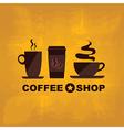 coffee icon menu flat design for menu shop vector image