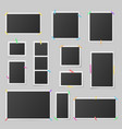 collection realistic photo frames vector image