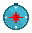 compass flat multi color vector image vector image