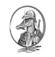 crocodile hunter character or safari alligator vector image vector image