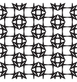 Diamonds Black and White Abstract Seamless Pattern vector image vector image
