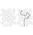 Easy four leaf clover maze vector image vector image
