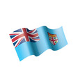 fiji flag on a white vector image vector image