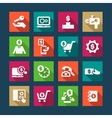 flat fitness icons set vector image vector image
