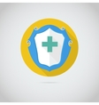 Flat icon with cross vector image vector image