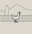 geometric of a chicken vector image vector image