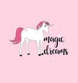 hand drawing sweet unicorn vector image vector image