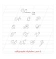 hand drawn calligraphic Alphabet part 2 vector image vector image