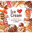 ice cream frame banner for shop or cafe vector image