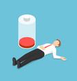 isometric businessman fainting on floor with