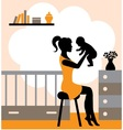 joys motherhood vector image vector image