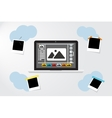 Laptop Icon on gray backgroud Photo frame near vector image vector image