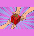 man and woman gift of love vector image vector image