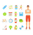 man healthy lifestyle of male vector image vector image