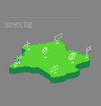 map france isometric concept vector image vector image
