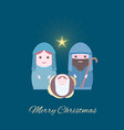 merry christmas banner with nightly christmas vector image vector image