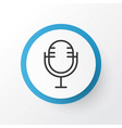 microphone icon symbol premium quality isolated vector image vector image