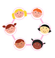 multicultural unity kids heads vector image