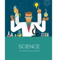 Multitasking Scientist making research vector image vector image