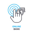 online bank concept outline icon linear sign vector image vector image