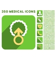 Ovum Penetration Icon and Medical Longshadow Icon vector image vector image