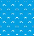 pagoda pattern seamless blue vector image vector image
