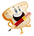 pencil bread on white background vector image vector image