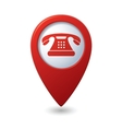 phone icon red pointer vector image